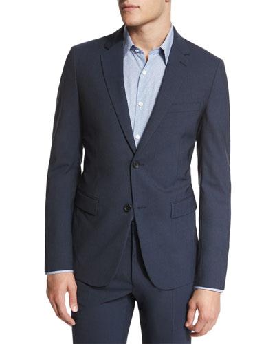Wellar New Tailor Two-Button Blazer, Dark Blue