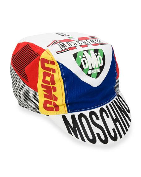 Motocross Logo-Print Half-Brim Hat