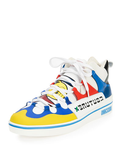 Toy Multicolored Mid-Top Leather Sneaker