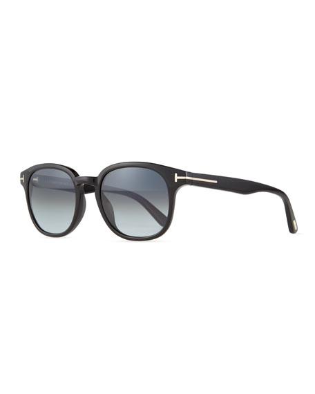 TOM FORD Frank Shiny Acetate Sunglasses, Black