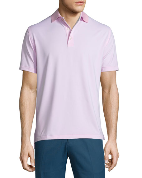 Peter Millar Jubilee Striped Short-Sleeve Stretch Jersey Polo,