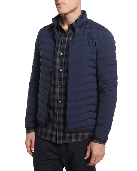 Theory Collet Lightweight Puffer Jacket, New Navy