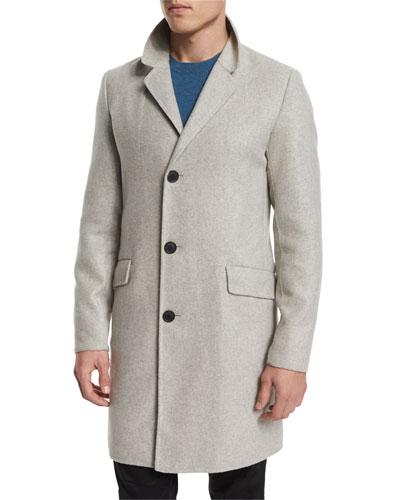 Whyte Cashmere Topcoat, Crisp Heather