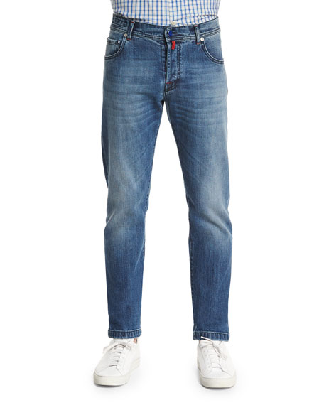 Kiton Slim-Fit Dark-Wash Denim Jeans