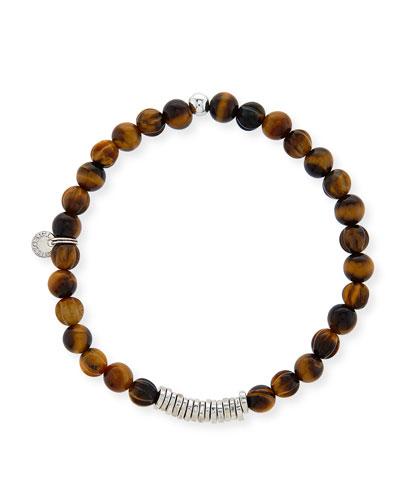 Men's Tiger Eye Bead Bracelet