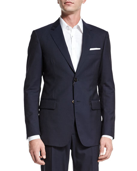 Gucci Brera Two-Piece Wool Suit, Navy
