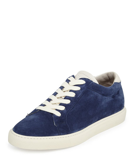 Brunello Cucinelli Suede Low-Top Sneaker, Navy
