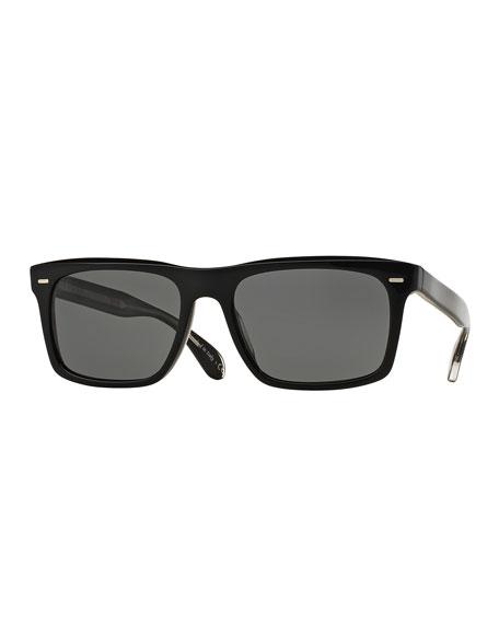 Oliver Peoples Brodsky 55 VFX+ Polarized Sunglasses, Black