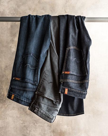 Straight-Leg Foolproof Denim Jeans, Classic Indigo