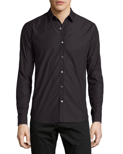 Zack PS Armorel Textured Sport Shirt, Black