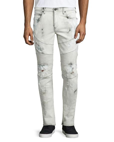 True Religion Rocco Rough Streets Moto Jeans, Bronx