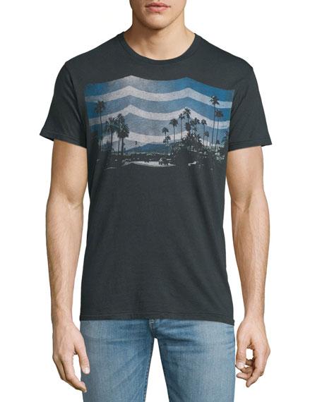 Sol Angeles Daydream Waves Graphic Short-Sleeve T-Shirt, Black