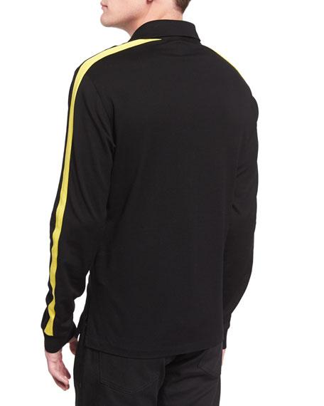 Ralph lauren black label long sleeve pique polo shirt with for Ralph lauren black label polo shirt