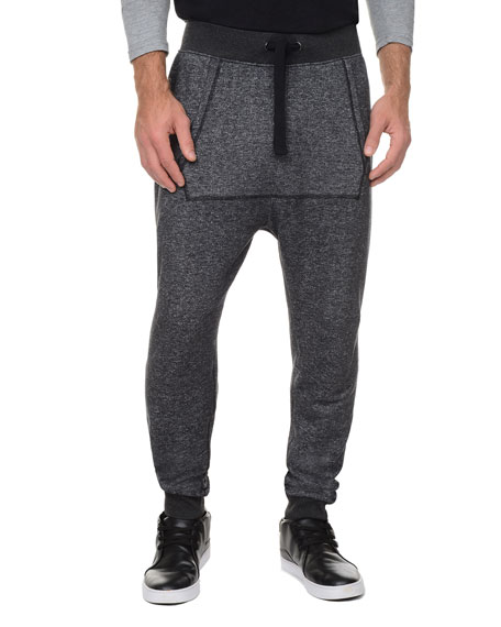 2Xist Terry Harem Sweatpants, Black