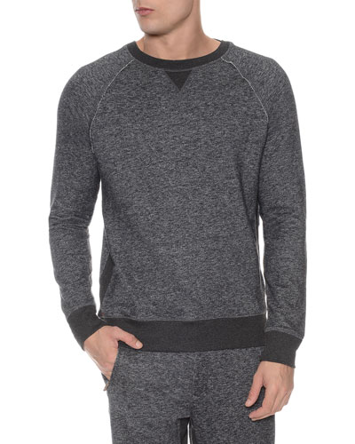 Terry Crewneck Sweatshirt, Black
