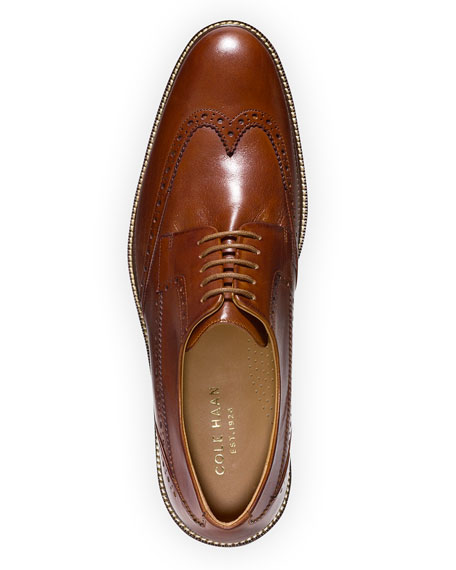 Warren Leather Wing-Tip Oxford, British Tan
