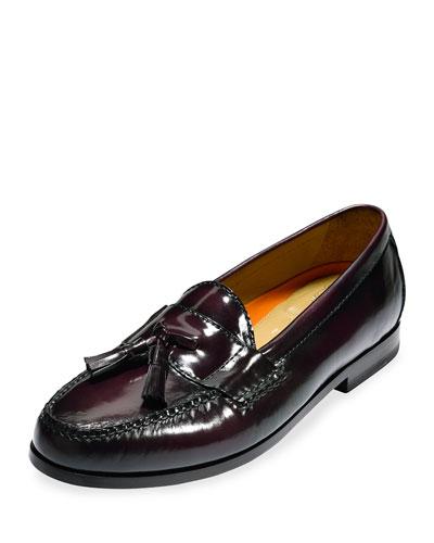 Pinch Grand Leather Tassel Loafer, Burgundy
