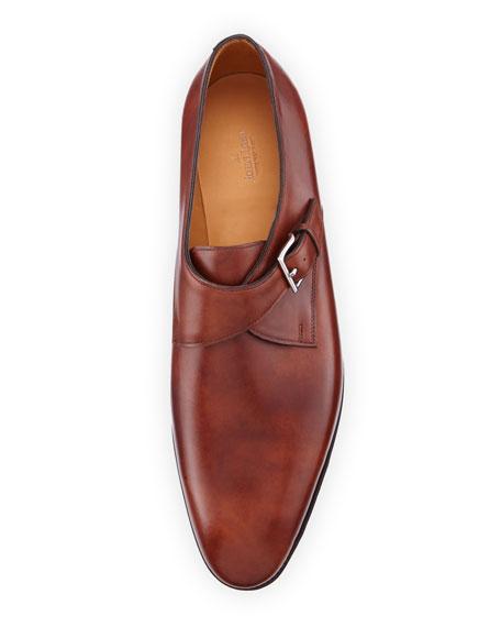 Ashill Single-Monk Leather Shoe, Brown