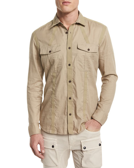 Belstaff Sinclair Taped-Trim Sport Shirt & Felmore Slim-Fit