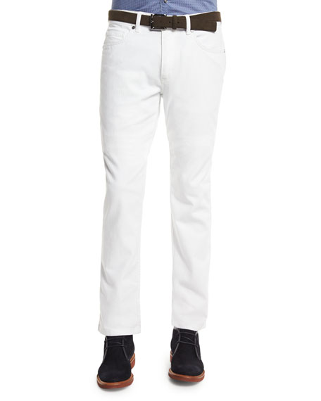 Ermenegildo Zegna Five-Pocket Slim-Fit Jeans, White