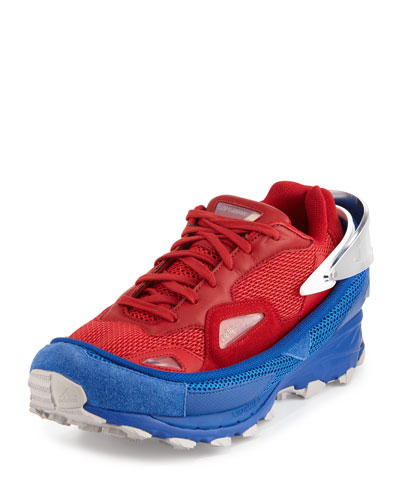 Response Trail 2 Colorblock Mesh Sneakers, Red