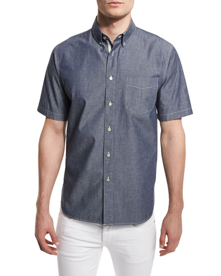 Rag & Bone Standard Issue Woven Short-Sleeve Shirt