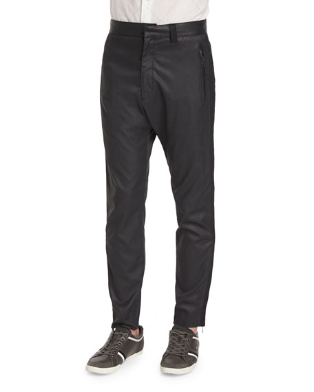Rag & Bone Zander Coated Stretch-Knit Track Pants,