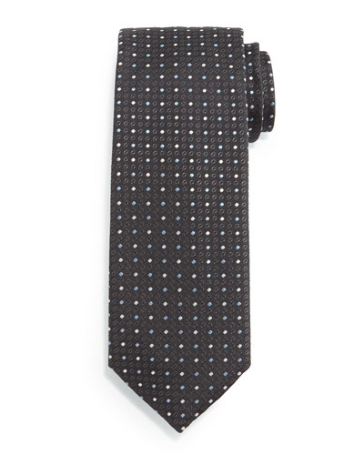 Textured Dot-Print Silk Tie, Multicolor