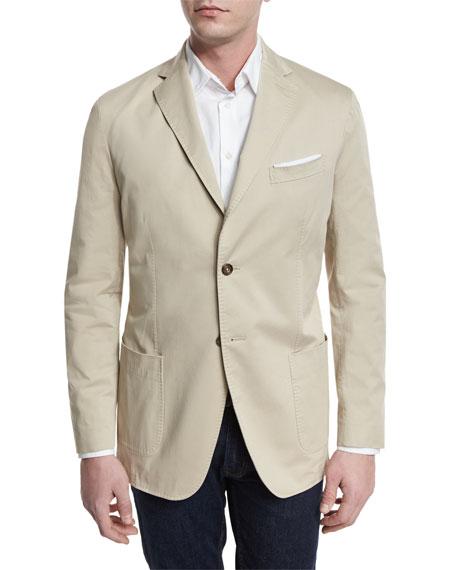 Two-Button Jacket, Tan