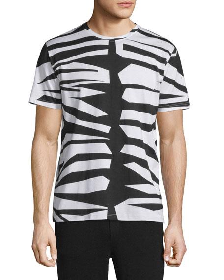 Burberry Prorsum Animal-Print Short-Sleeve T-Shirt, Natural White