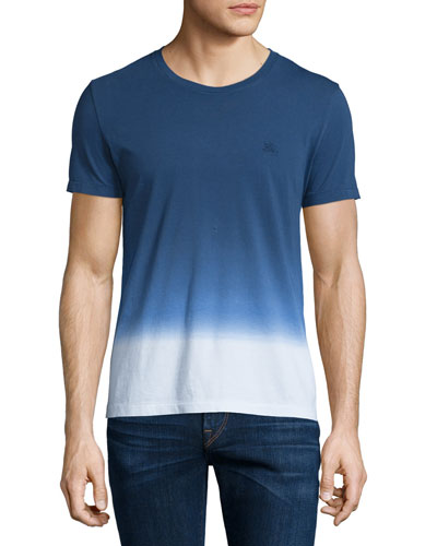 Dip-Dyed Ombre Short-Sleeve T-Shirt, Dark Ultramarine