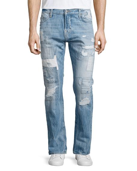 True Religion Dean Method Patchwork Denim Jeans, Patched Method