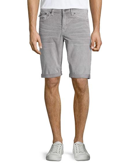 True Religion Ricky Sidewalk Denim Shorts, Old Gray