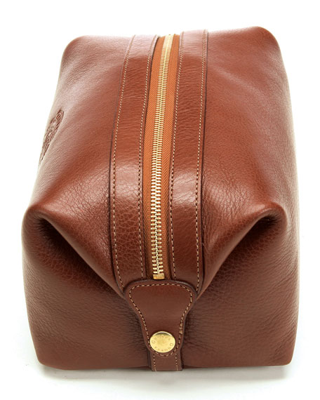 Holdall No. 101 Travel Toiletry Kit, Chestnut