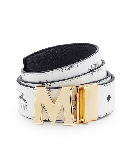 mcm reversible visetos saffiano leather belt