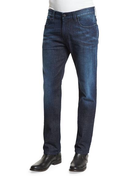 Armani Collezioni Five-Pocket Medium-Wash Denim Jeans, Blue