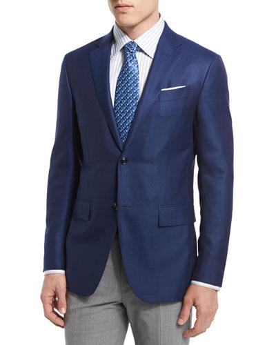 Two-Button Wool Blazer, Royal