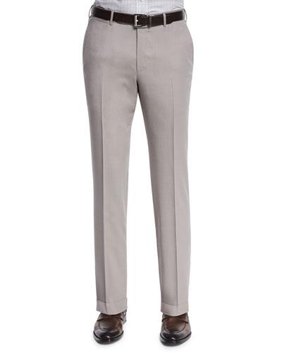 Ermenegildo Zegna High-Performance Wool Twill Trousers, Tan