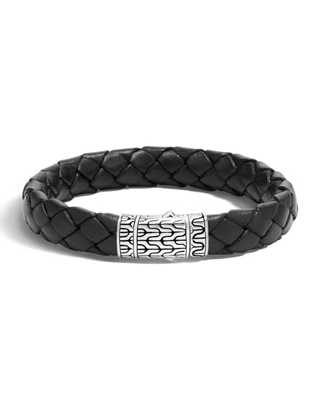 Men's Classic Chain Braided Leather Bracelet