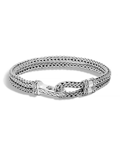 John Hardy Men's Double Classic Chain Hook Bracelet