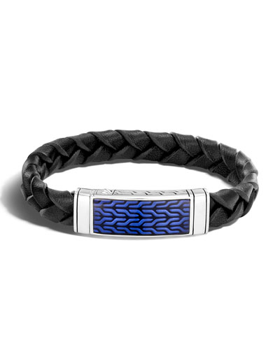 Men's Classic Chain Woven Leather Bracelet