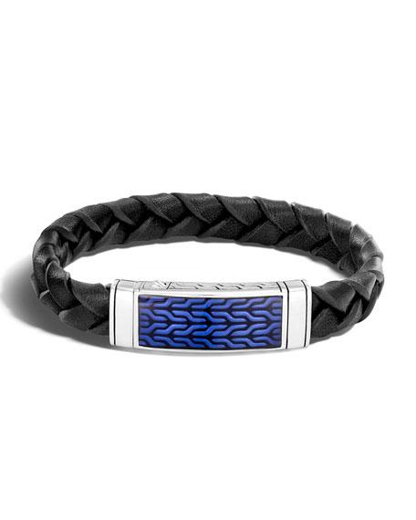 John Hardy Men's Classic Chain Woven Leather Bracelet
