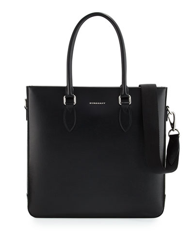 Kenneth Men's Leather Tote Bag, Black
