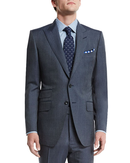 TOM FORD O'Connor Base Peak-Lapel Two-Piece Wool/Silk Reps