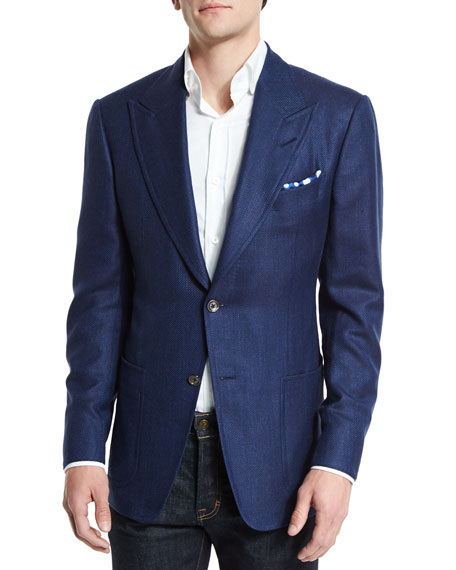 TOM FORD Spencer Peak-Lapel Half-Lined Cashmere-Blend Sport