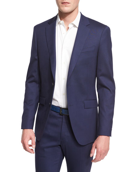 Theory Malcolm Two-Button Wool-Blend Jacket, Retreat