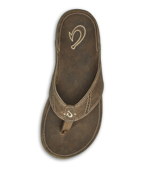 Men's Nui Leather Thong Sandals
