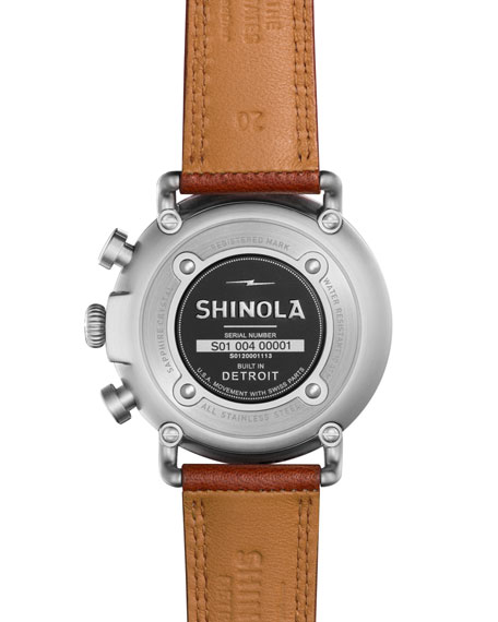 41mm Runwell Chronograph Watch, Tan/Gray