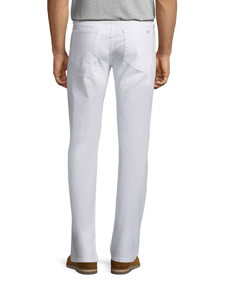 Warbucks Slim-Straight Jeans, White