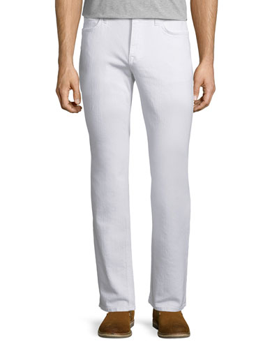 Warbucks Slim-Straight Jeans, White